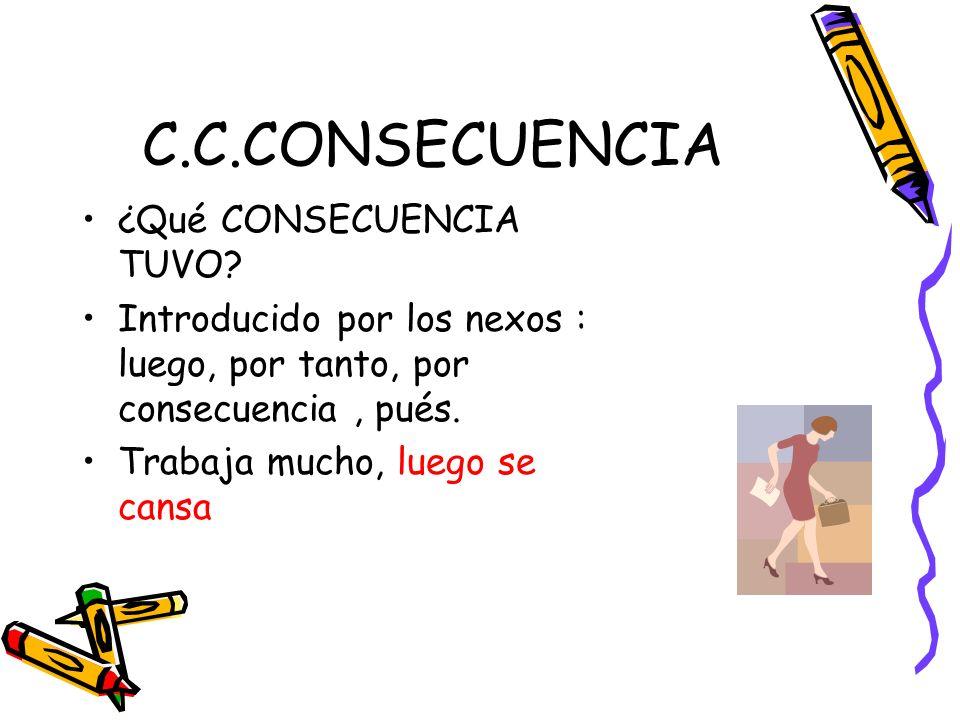 C.C.CONSECUENCIA ¿Qué CONSECUENCIA TUVO