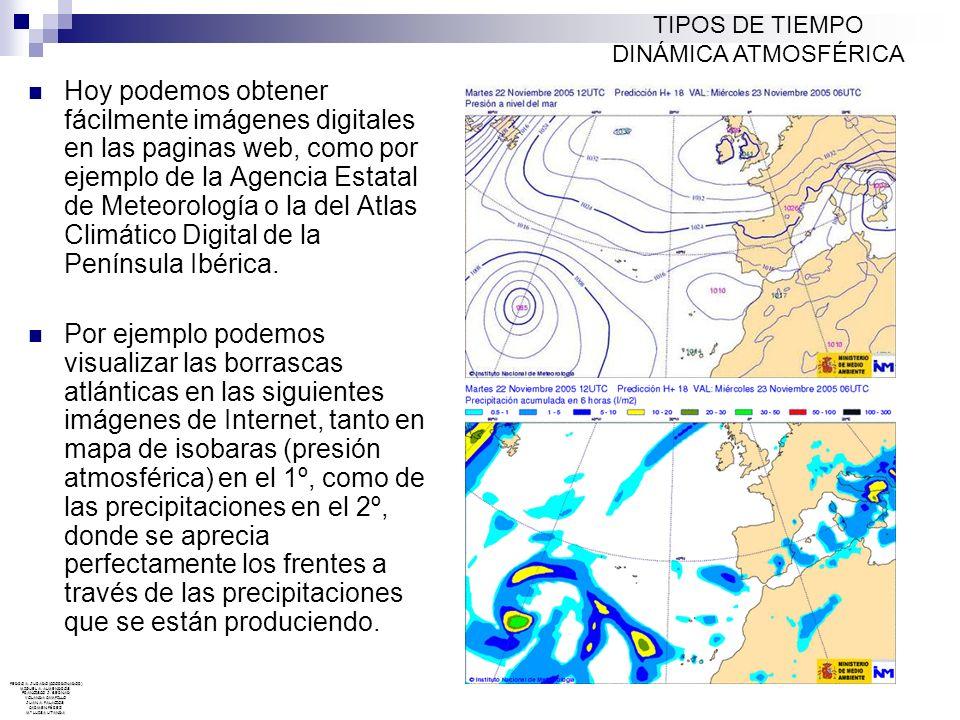 TIPOS DE TIEMPO DINÁMICA ATMOSFÉRICA.