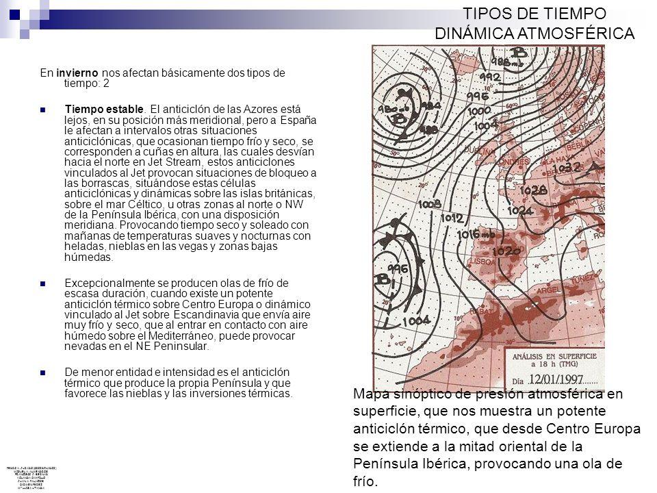 TIPOS DE TIEMPO DINÁMICA ATMOSFÉRICA