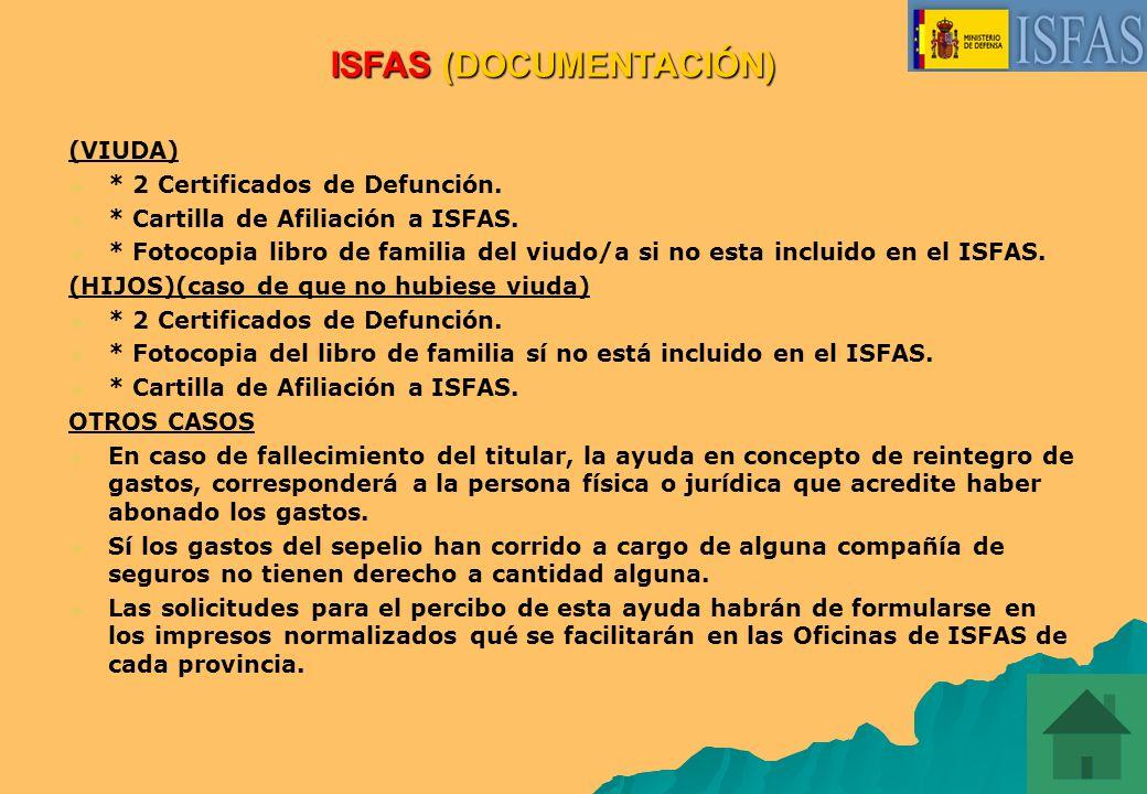ISFAS (DOCUMENTACIÓN)