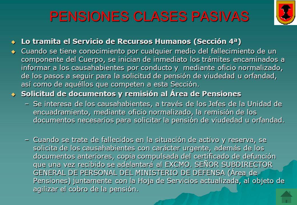 PENSIONES CLASES PASIVAS