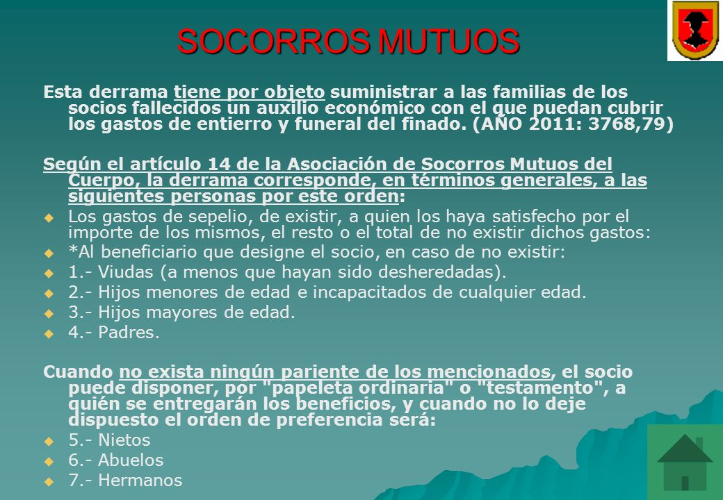 SOCORROS MUTUOS
