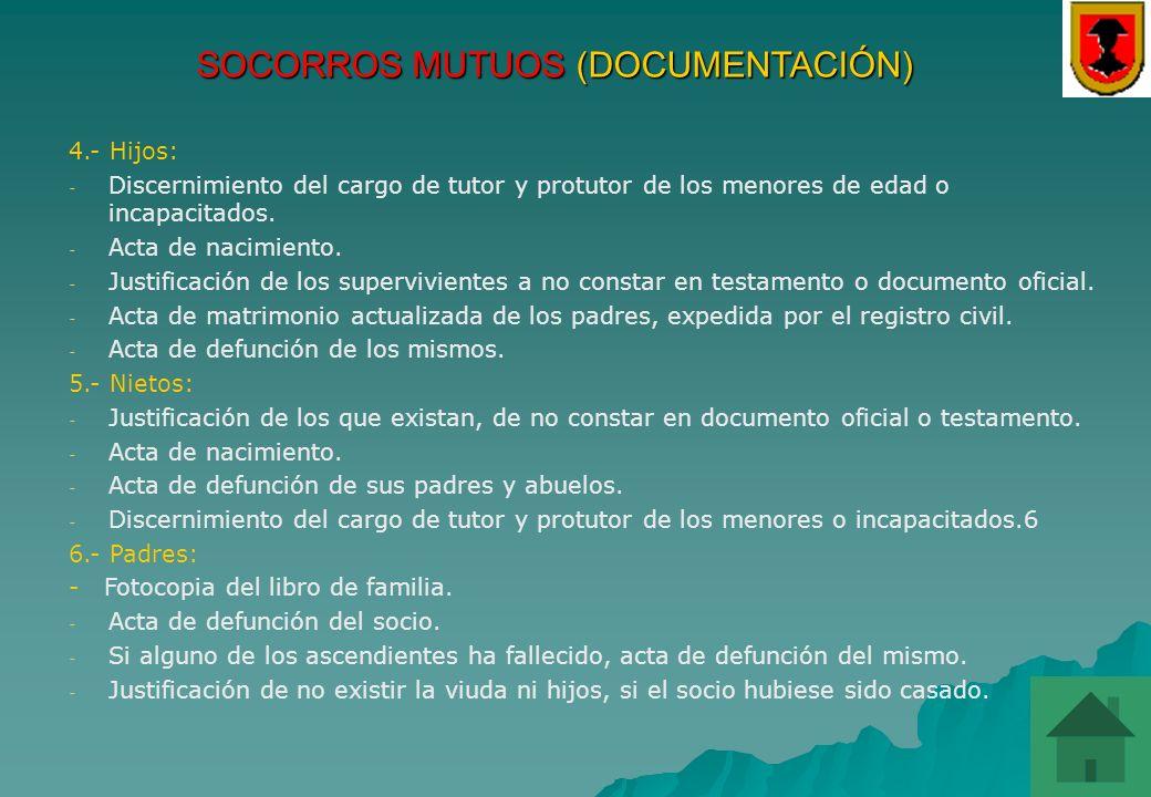 SOCORROS MUTUOS (DOCUMENTACIÓN)