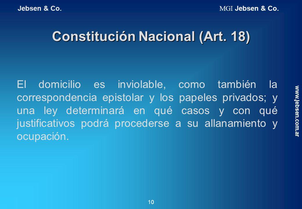 Constitución Nacional (Art. 18)