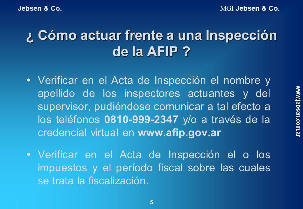 ¿ Cómo actuar frente a una Inspección de la AFIP