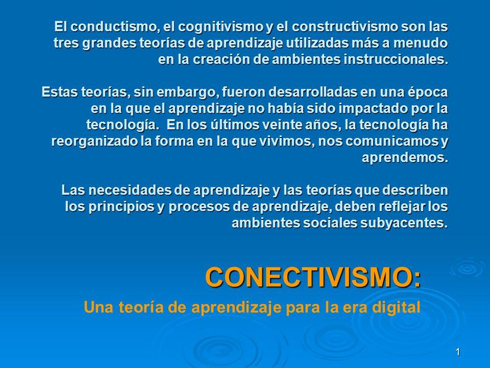 CONECTIVISMO: Una teoría de aprendizaje para la era digital