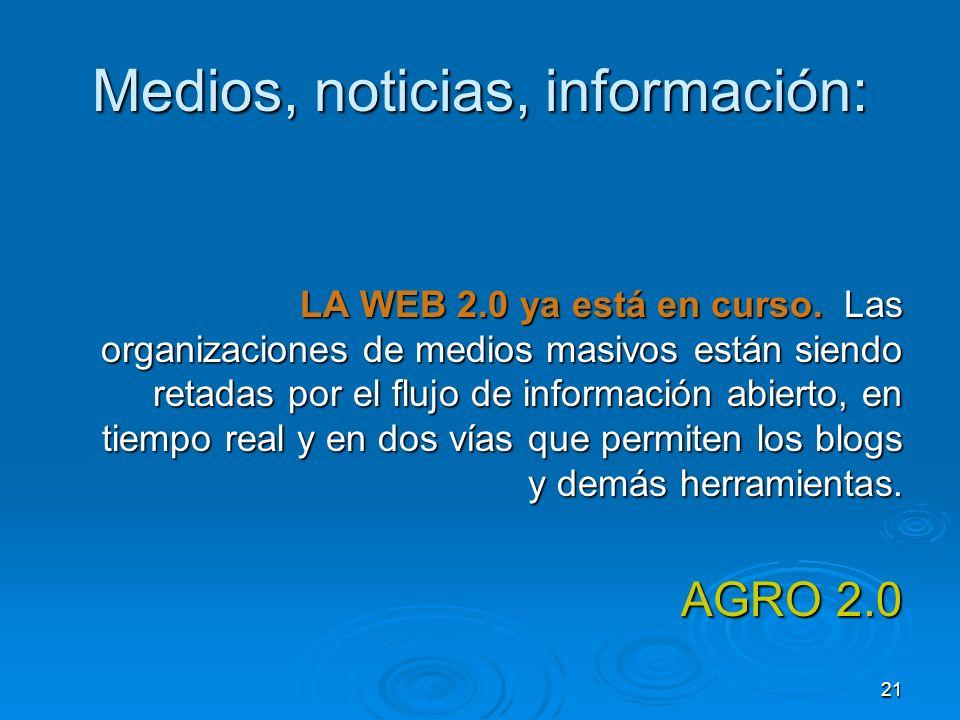 Medios, noticias, información: