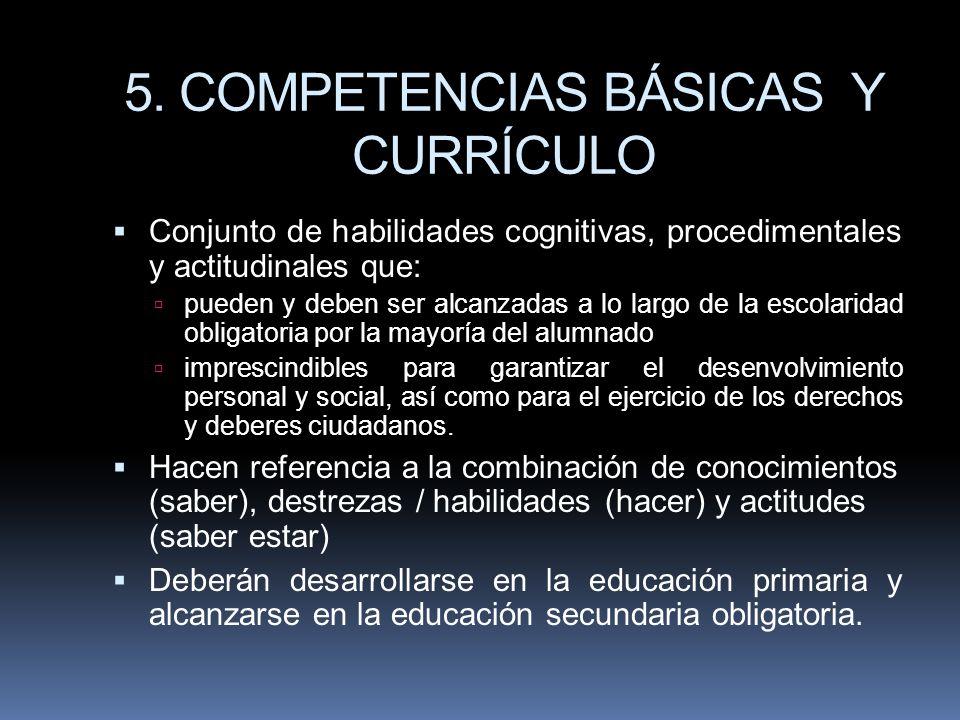 5. COMPETENCIAS BÁSICAS Y CURRÍCULO