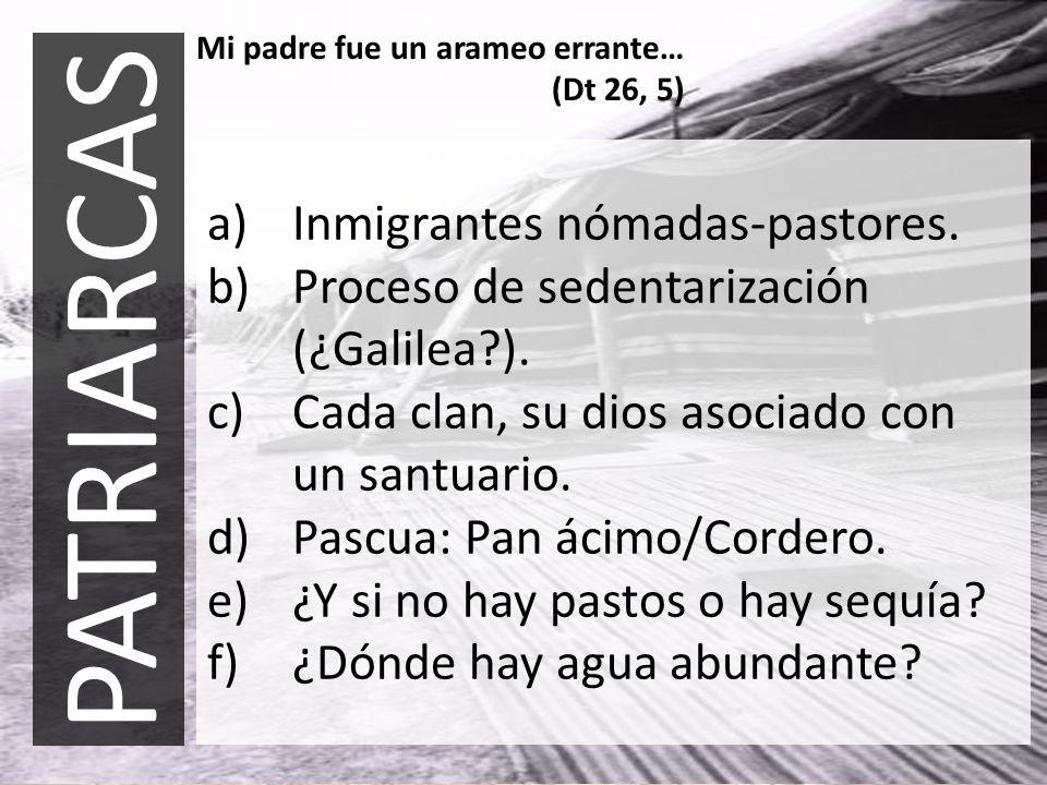 PATRIARCAS Inmigrantes nómadas-pastores.