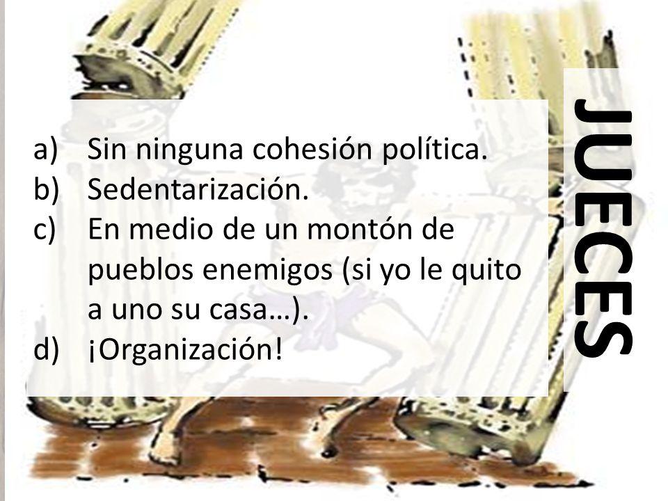 JUECES Sin ninguna cohesión política. Sedentarización.