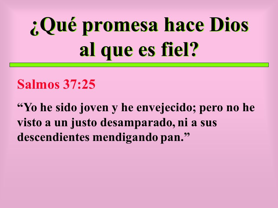 ¿Qué promesa hace Dios al que es fiel