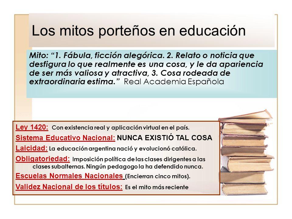 Los mitos porteños en educación