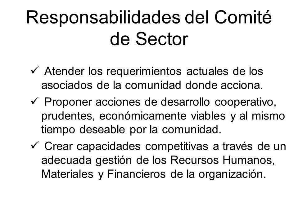 Responsabilidades del Comité de Sector