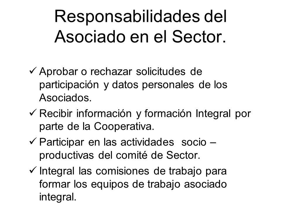 Responsabilidades del Asociado en el Sector.