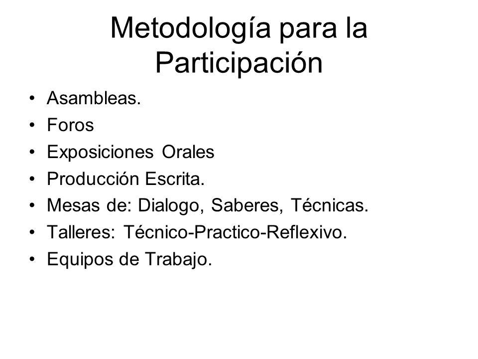 Metodología para la Participación