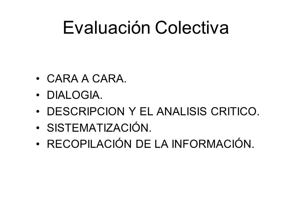 Evaluación Colectiva CARA A CARA. DIALOGIA.