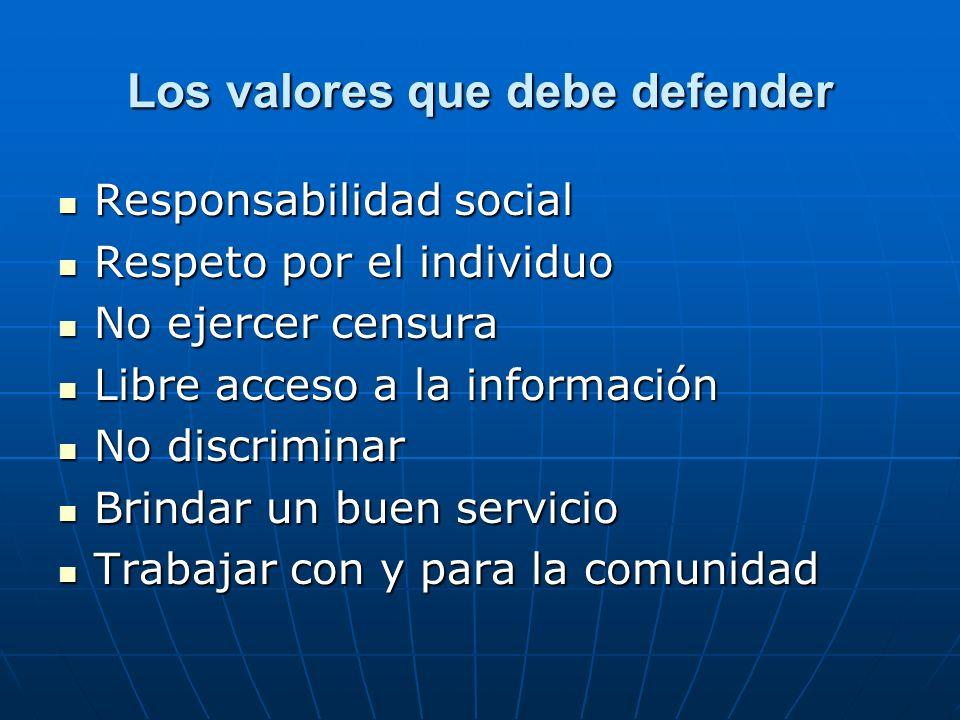 Los valores que debe defender
