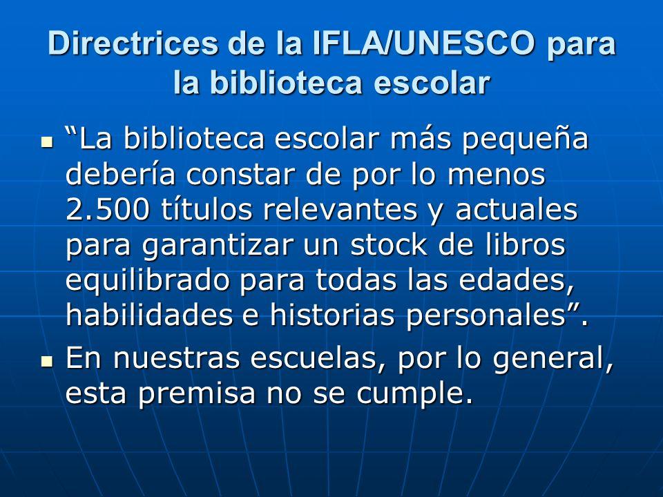 Directrices de la IFLA/UNESCO para la biblioteca escolar