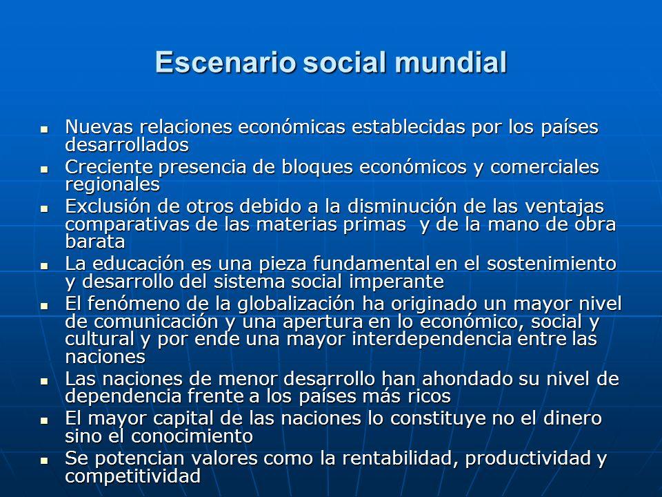 Escenario social mundial