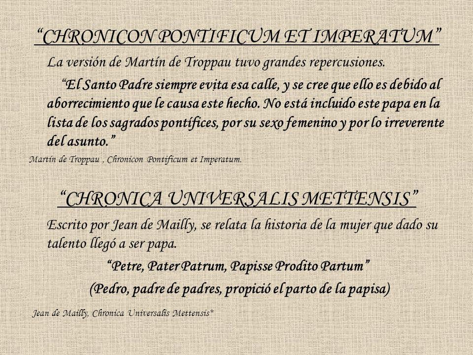 Petre, Pater Patrum, Papisse Prodito Partum