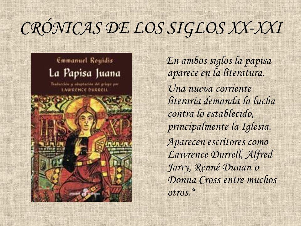 CRÓNICAS DE LOS SIGLOS XX-XXI