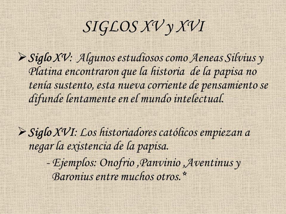 SIGLOS XV y XVI