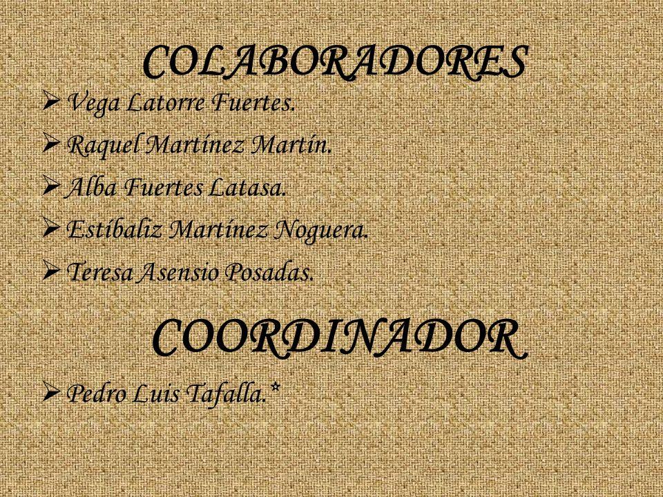 COORDINADOR COLABORADORES Vega Latorre Fuertes.