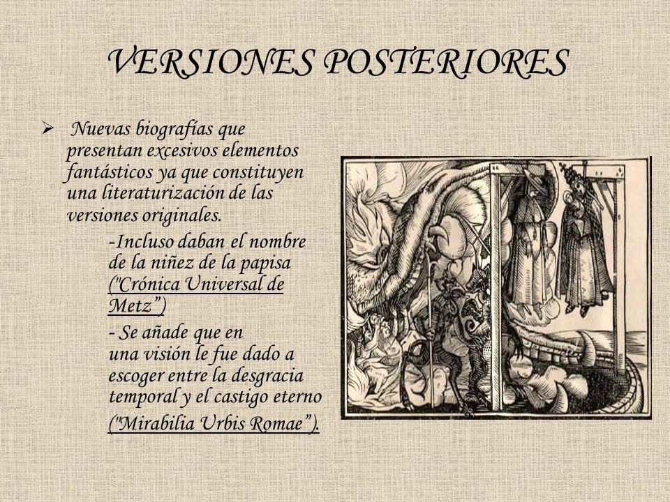 VERSIONES POSTERIORES
