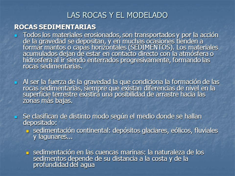 LAS ROCAS Y EL MODELADO ROCAS SEDIMENTARIAS