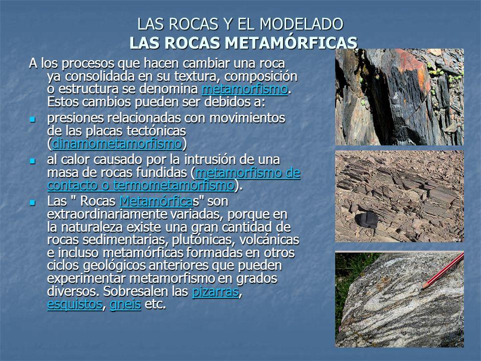 LAS ROCAS Y EL MODELADO LAS ROCAS METAMÓRFICAS