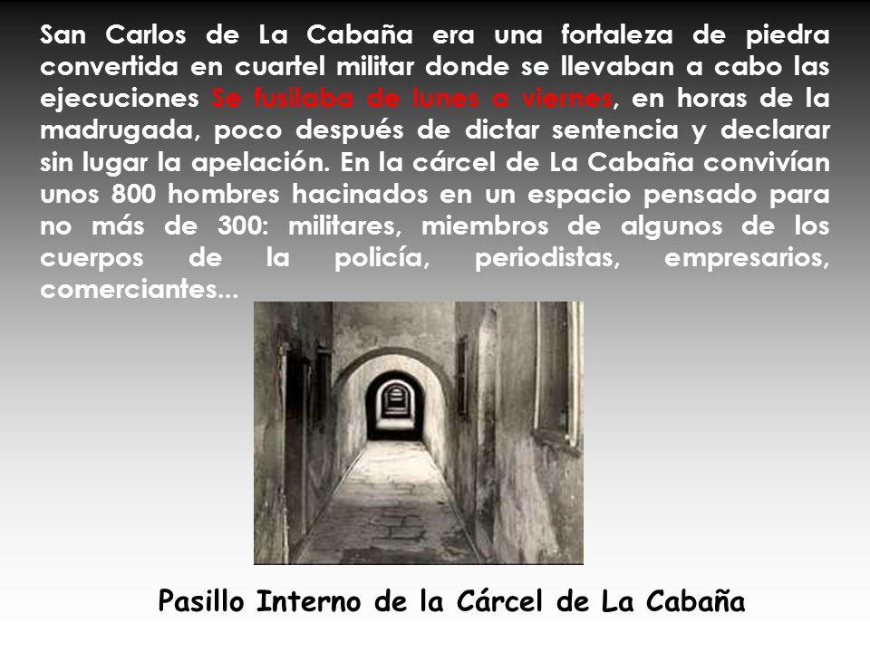 Pasillo Interno de la Cárcel de La Cabaña
