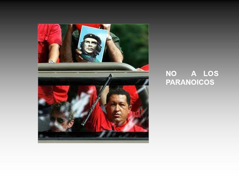 NO A LOS PARANOICOS