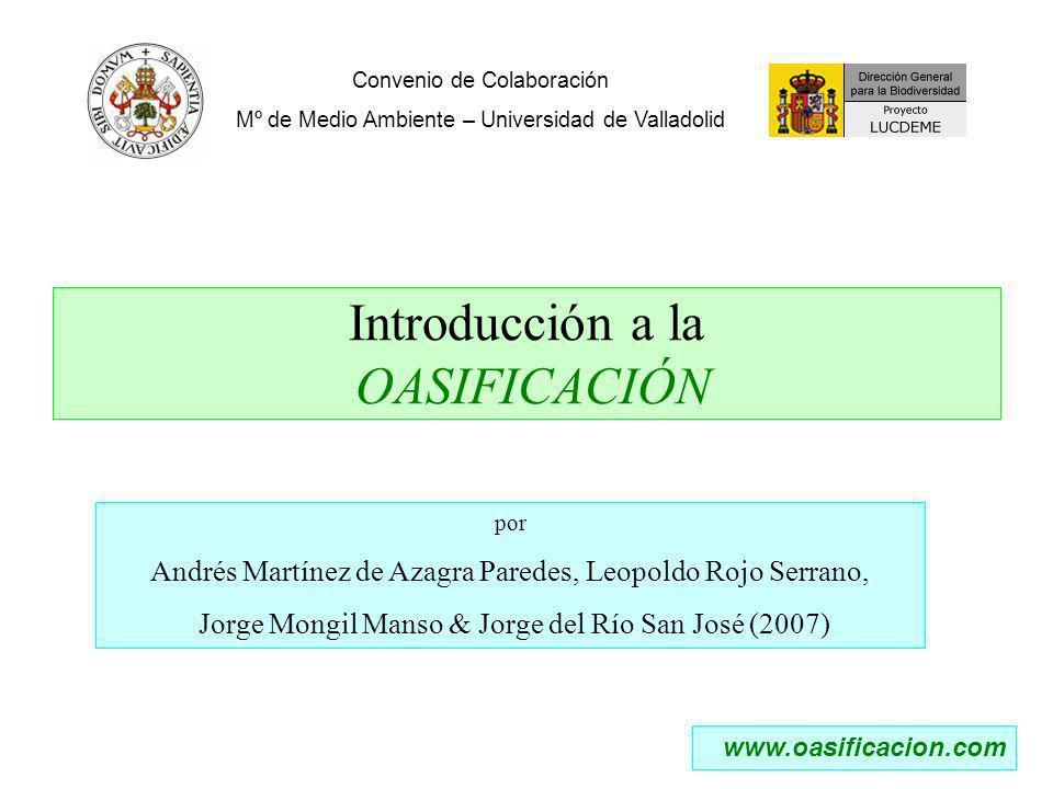 Introducción a la OASIFICACIÓN