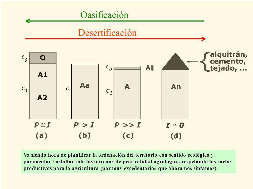 Oasificación Desertificación