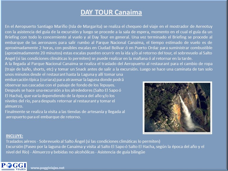 DAY TOUR Canaima