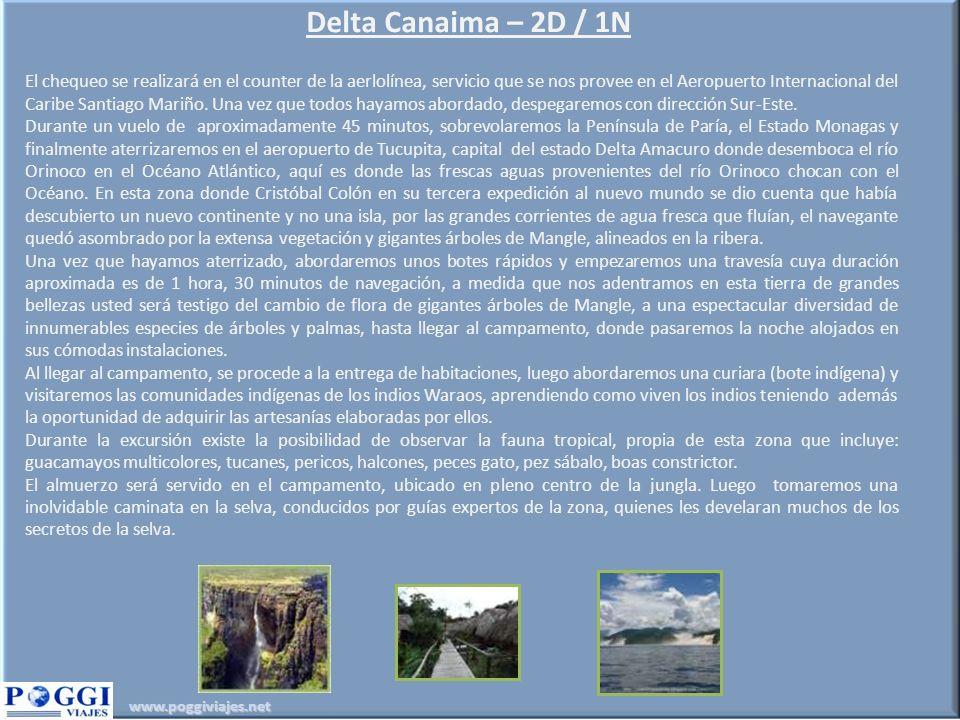 Delta Canaima – 2D / 1N