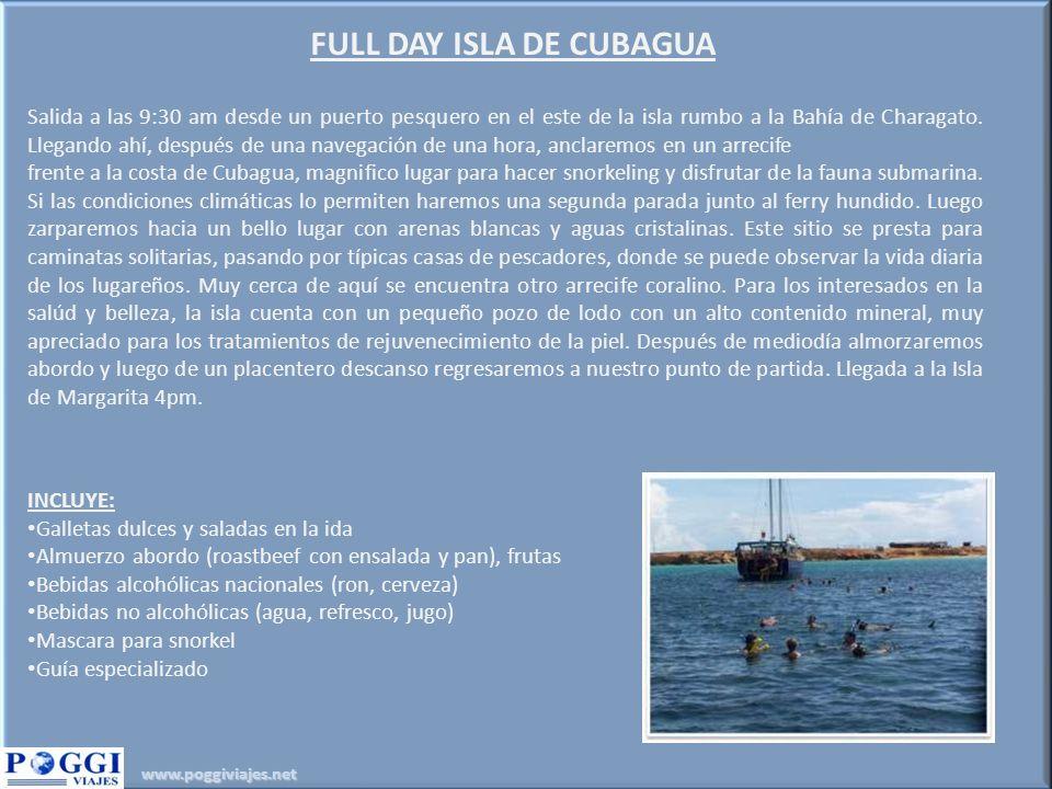 FULL DAY ISLA DE CUBAGUA