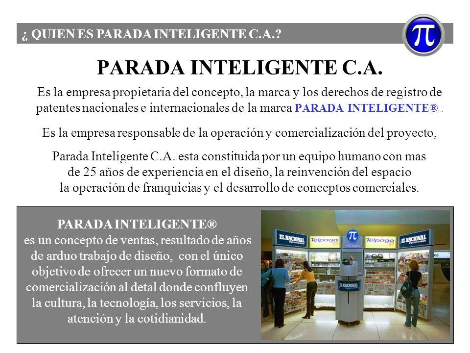 PARADA INTELIGENTE C.A. ¿ QUIEN ES PARADA INTELIGENTE C.A.