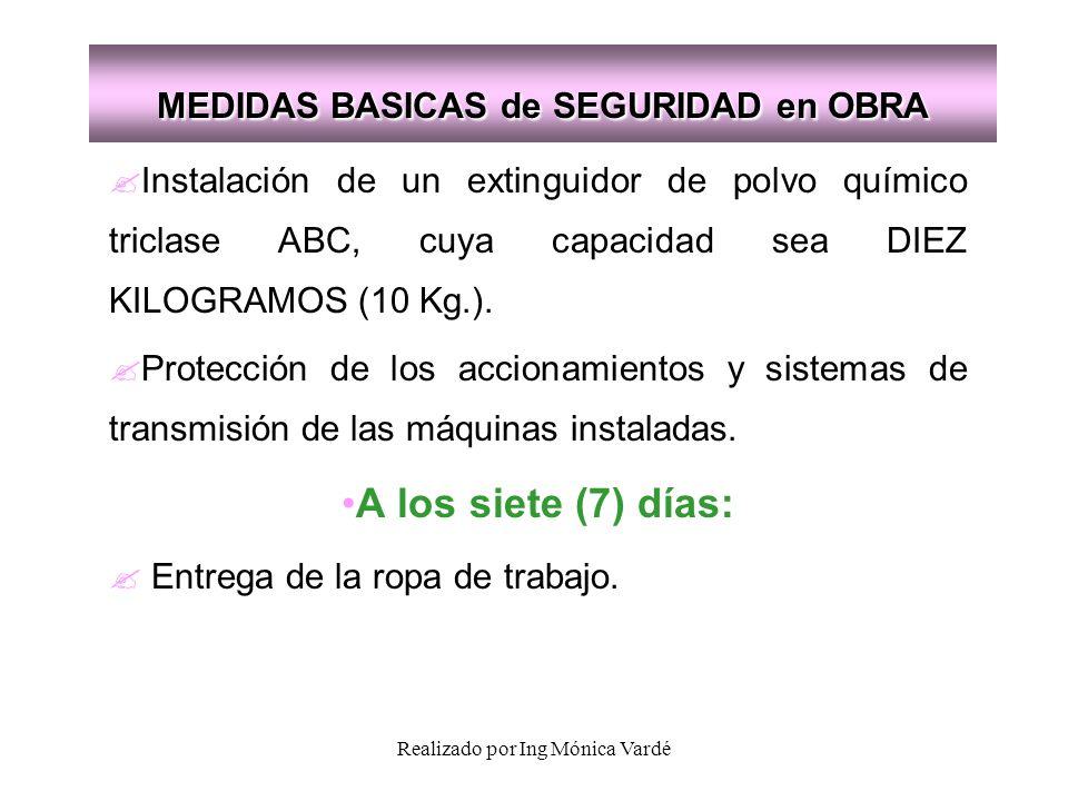 MEDIDAS BASICAS de SEGURIDAD en OBRA