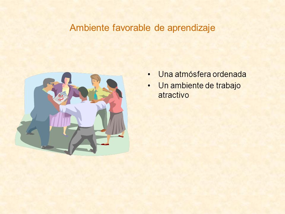 Ambiente favorable de aprendizaje