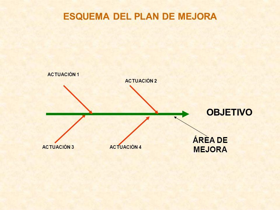ESQUEMA DEL PLAN DE MEJORA