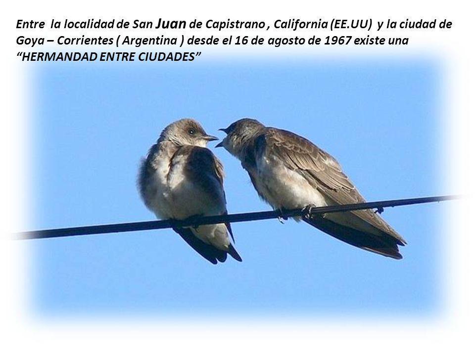 Entre la localidad de San Juan de Capistrano , California (EE