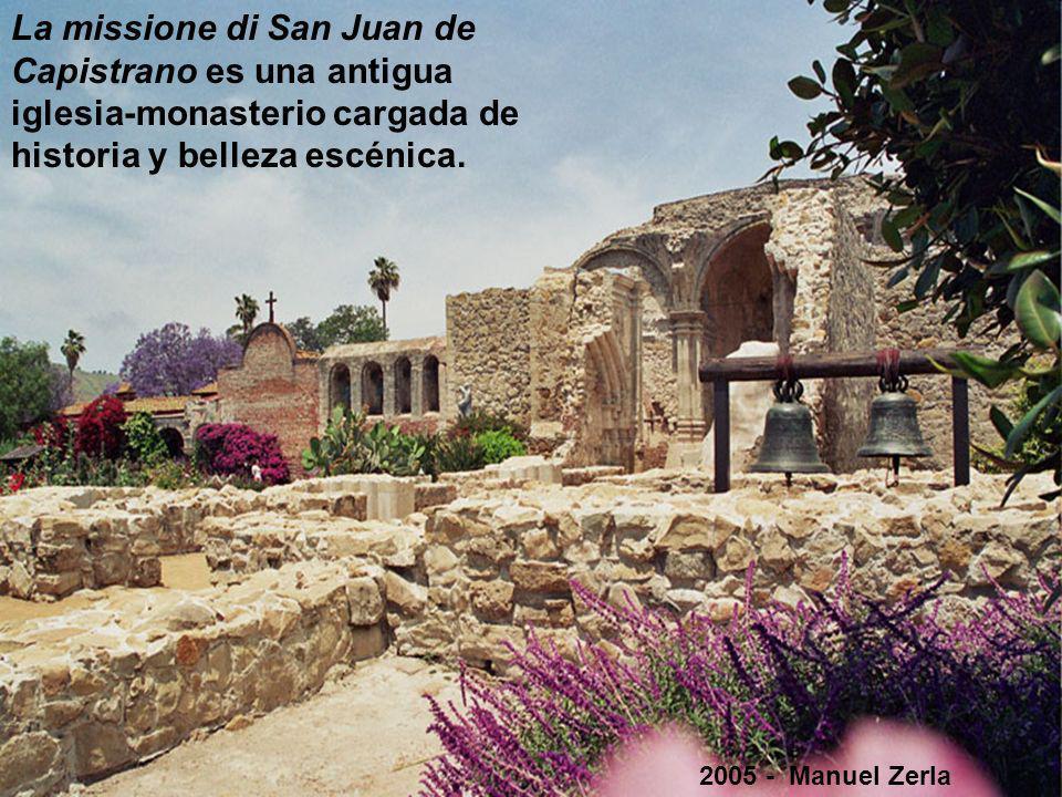 La missione di San Juan de Capistrano es una antigua iglesia-monasterio cargada de historia y belleza escénica.