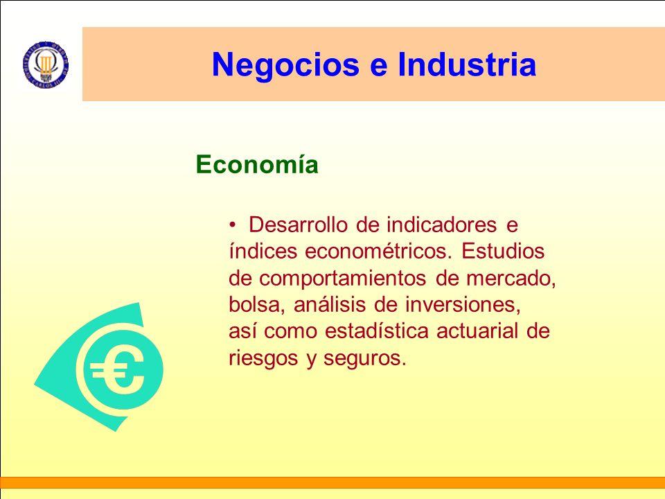 Negocios e Industria Economía Desarrollo de indicadores e