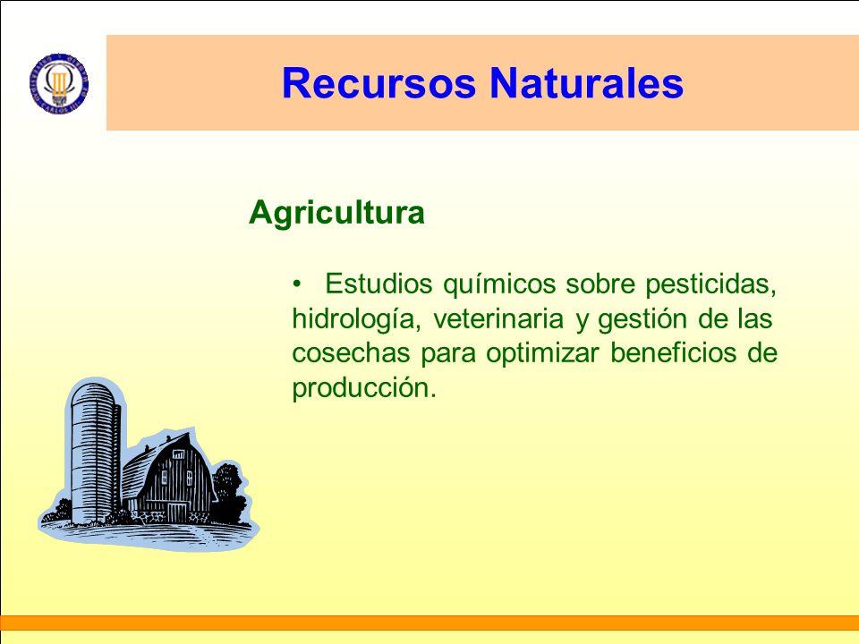 Recursos Naturales Agricultura Estudios químicos sobre pesticidas,