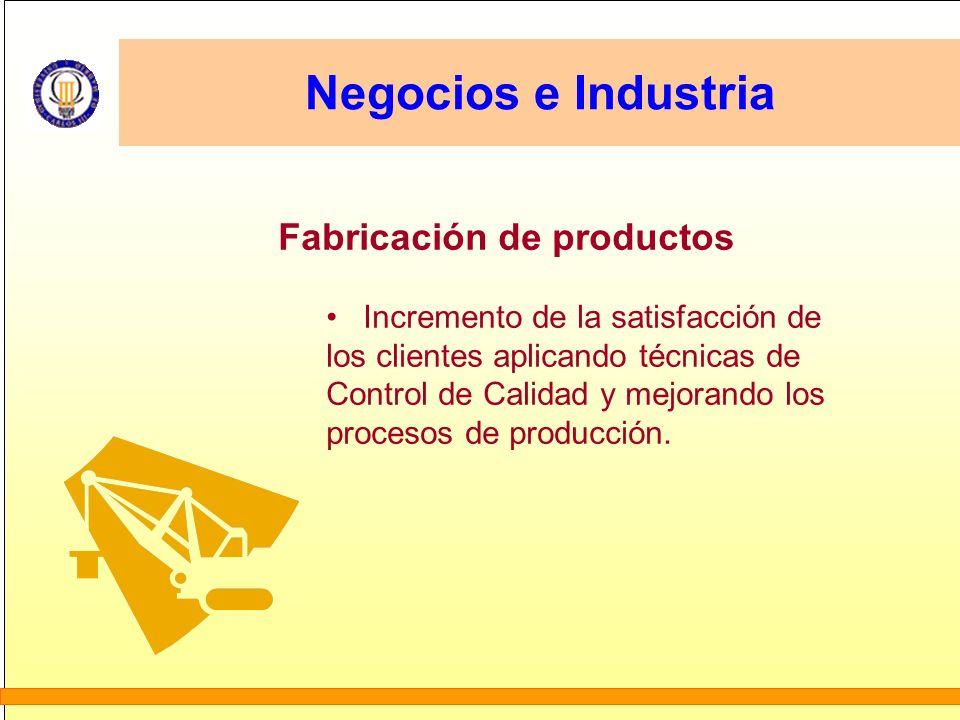 Negocios e Industria Fabricación de productos