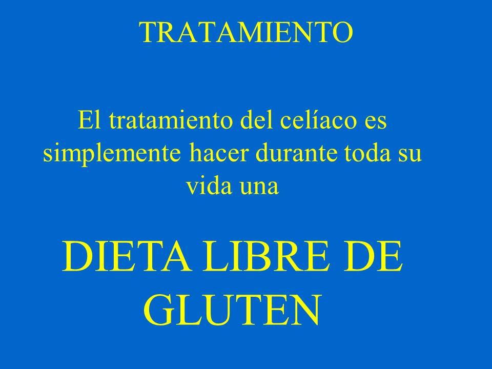 DIETA LIBRE DE GLUTEN TRATAMIENTO