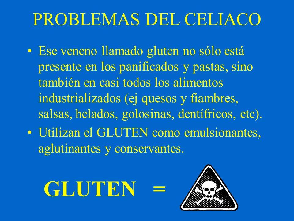 GLUTEN = PROBLEMAS DEL CELIACO