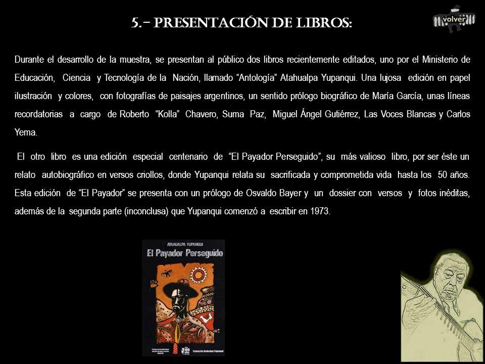 5.- PRESENTACIÓN DE LIBROS:
