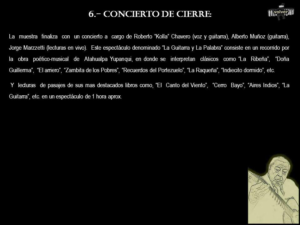 6.- CONCIERTO DE CIERRE: